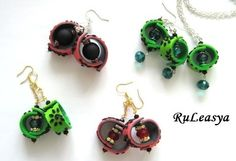 polymer clay earrings and necklaces