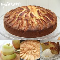 Eplekake - My Little Kitchen Little Kitchen, Apple Cake, Cakes And More, Cake Recipes, Muffin, Brunch, Food And Drink, Kitchens, Bread