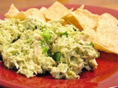Chicken salad made by mixing avocado, cilantro, salt, and lime juice with the chicken. No mayo.