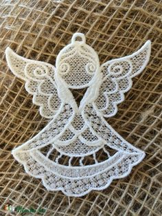 Csipkeangyal-7 (Cottonfresh) - Meska.hu Crochet Earrings, Diy, Jewelry, Embroidery, Do It Yourself, Jewellery Making, Jewerly, Bricolage, Jewelery
