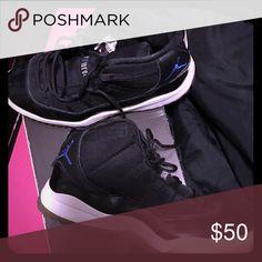 SpaceJam Jordan's black and blue // air jordan space jams Shoes Athletic Shoes