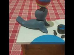 Seal with ball automata #seal #automata #handcrafted #woodentoy #cranktoy
