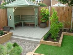 Garden Design Read on to discover some great, modern garden decking ideas that will totally transform your garden. tag: garden decking ideas designs, photos, garden decking ideas for small gardens on a budget, garden decking ideas slopes Cozy Backyard, Small Backyard Landscaping, Landscaping Ideas, Patio Ideas, Paved Backyard Ideas, Landscaping Around Deck, Inexpensive Landscaping, Sloped Backyard, Backyard Sheds