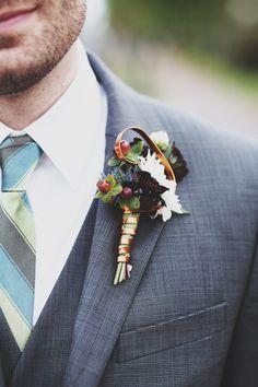 Garden Wedding Venue | Gray Groom's Suit - Photo: Ulmer Studios