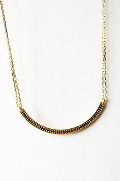 Black Diamond Gold Necklace