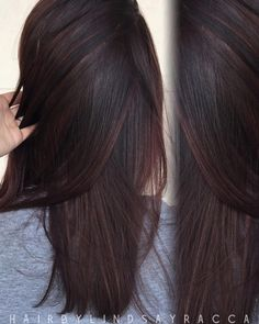97 Likes, 7 Comments - Vivid Studio by Lindsay Racca ( on In. Hair Color Dark, Hair Color For Black Hair, Brown Hair Colors, Dark Hair, Dark Mahogany Hair, Burgundy Hair Colour, Dark Fall Hair Colors, Dark Red Brown Hair, Chocolate Cherry Hair Color