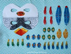 Free Printable Bird Mask by Anjora Noronha - Things We Do Blog