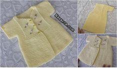 HAZIR ÇİÇEKLE SÜSLÜ SARI KIZ BEBEK YELEK   Nazarca.com Kids Dress Wear, Baby Knitting Patterns, Diy And Crafts, Crochet, Sweaters, How To Wear, Sari, Dresses, Fashion