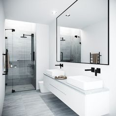 25 Bathroom Mirror Ideas for a Small Bathroom Modern Bathroom Design, Bathroom Interior Design, Modern Marble Bathroom, Modern Bathroom Cabinets, Modern Bathtub, Modern Bathrooms, Small Bathrooms, Appartement Design, Minimalist Bathroom