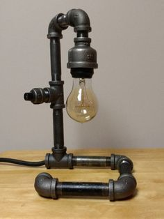 Industrial Pipe Lamp by JoesPipeWorks on Etsy