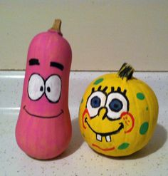 spongebob and gary the snail pumpkins clever no carve. Black Bedroom Furniture Sets. Home Design Ideas
