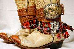 Upcycled Boho Gypsy Spirit Leather Cowgirl by MorningGloryTeahouse, $85.00