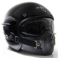 Harisson Corsair helmet - gloss black So. Retro Motorcycle, Motorcycle Style, Motorcycle Gear, Women Motorcycle, Biker Helmets, Biker Gear, Hjc Helmets, Racing Helmets, Custom Helmets