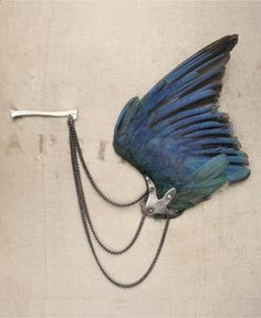 bird wing brooch - julia deville