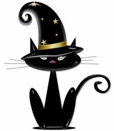 halloween cats and kittens black cat clip art images black cat rh pinterest com halloween black cat clipart halloween cat clipart png