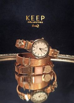 Rose Gold is one of our most popular sellers! We have it in reversible leather keepers, rose gold mesh, rose gold time keys, and rose gold bangles. Shop at: www.ybcharmgirl.com #rosegold #bracelets #bangles #watches