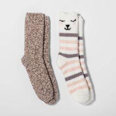 Women's Llama Cozy Crew Socks - Cream Stripe One Size, Beige Llama Socks, Sport Cuts, Liner Socks, No Show Socks, Comfy Casual, Ankle Socks, Crew Socks, Sports Women, New Day