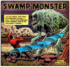 Panel from Basil Wolverton's Swamp Monster, from Weird Mysteries #5 (1953).