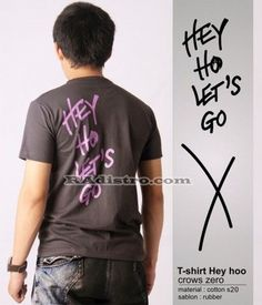 jual kaos crows zero online murah HEYHO LETS GO model