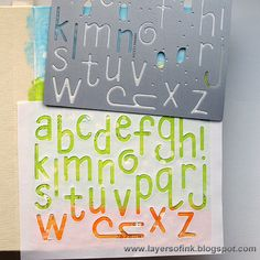 Stenciled Album Tutorial by Anna-Karin for the Simon Says Stamp Monday challenge (XYZ)
