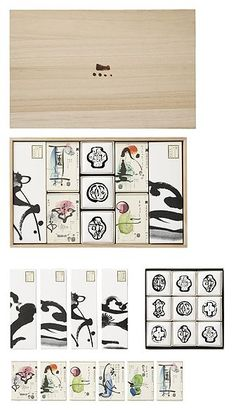 Idea for some living room wall perhaps. Japanese Packaging, Tea Packaging, Paper Packaging, Pretty Packaging, Brand Packaging, Packaging Design, Branding Design, Typography Design, Typography Poster