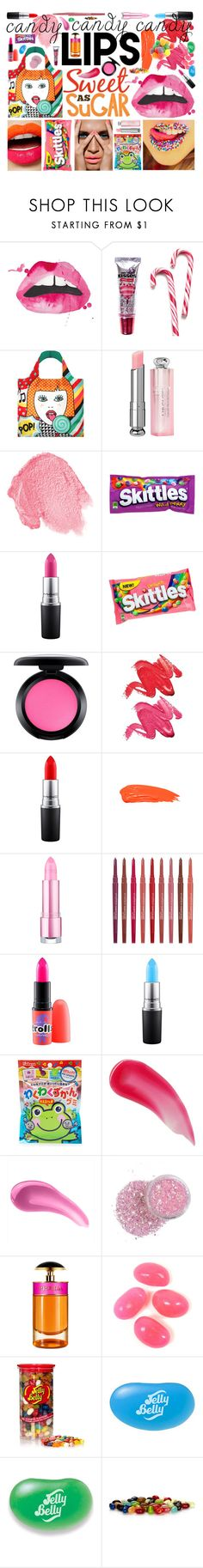 """""""Candy Kisses"""" by littlesaraha ❤ liked on Polyvore featuring beauty, Hershey's, LOQI, Christian Dior, NARS Cosmetics, MAC Cosmetics, Stila, Anastasia Beverly Hills, Smashbox and Charlotte Tilbury"""