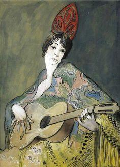 Francis Picabia - ESPAGNOLE A LA GUITARE, 1926