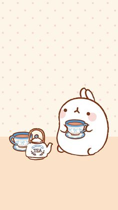 Tea time with Molang!