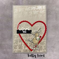Happy Love Day 2021 – kelly kent Happy Valentine's Day Friend, Happy Love Day, Love Days, Happy Valentines Day, Valentine Cards, Animal Cards, Stamping Up, Kids Cards, Anniversary Cards
