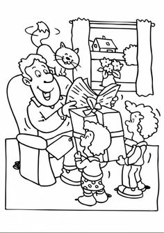 Prepare Big Gift For Best Dad In The World Coloring Pages : Best Place to Color Fathers Day Coloring Page, Family Coloring Pages, Cool Coloring Pages, Free Printable Coloring Pages, Coloring Books, Spiderman Coloring, Great Gifts For Dad, Doodle Coloring, Online Coloring