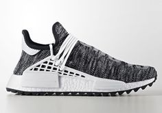 Pharrell x adidas NMD Hu Trail Black White
