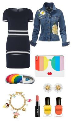 """""""Untitled #64"""" by mira-163 ❤ liked on Polyvore featuring Dorothy Perkins, Betsey Johnson, Alice + Olivia, NYX, Deborah Lippmann and Vans"""