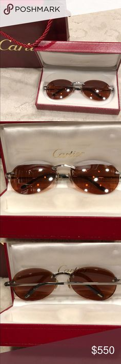 2df972ec2e30d Cartier unisex rimless frame sunglasses These are beautiful gently worn  glasses. They will need new lenses since there are currently prescription  lenses.