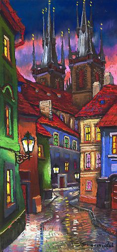 """Prague Old Street 2"" by Yuriy Shevchuk."