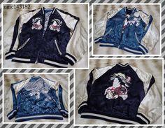 SUKAJAN Souvenir reversible bomber jacket (japanese M) Geisya maiko kyoto kimono # #FlightBomber
