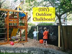 {DIY} Outdoor chalkboard - My House and Home