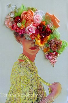 Wonderful Ribbon Embroidery Flowers by Hand Ideas. Enchanting Ribbon Embroidery Flowers by Hand Ideas. Rose Embroidery, Silk Ribbon Embroidery, Hand Embroidery Patterns, Embroidery Kits, Ribbon Art, Quilling Designs, Flower Art, Dame, Needlework