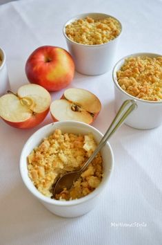My Home Style: Jablečný crumble Macaroni And Cheese, Oatmeal, Brunch, House Styles, Breakfast, Ethnic Recipes, Fit, The Oatmeal, Morning Coffee