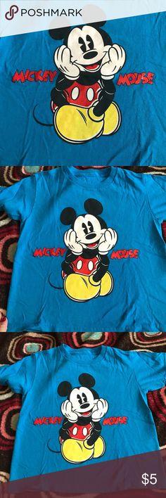 Mickey Mouse shirt Blue Mickey Mouse shirt Shirts & Tops Tees - Short Sleeve
