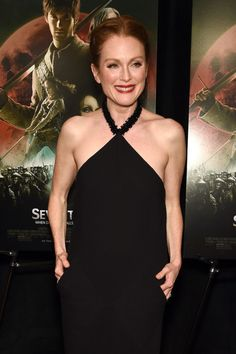 Julianne Moore at Seventh Son Screening in New York 2015 - Great Dress!