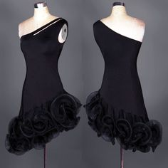 Black Sexy Hot Latin salsa tango Cha cha Ballroom Dance Dress Dress S-2XL
