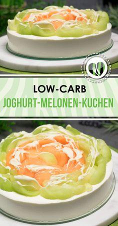 Der Joghurt-Melonen-Kuchen ist Low Carb, glutenfrei, zuckerfrei und erfrischend lecker. Zudem muss man ihn nicht backen.