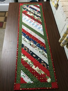 Christmas table runner for my sister and brother-in-law. Their third and last Christmas in Poland with the American School of Warsaw.