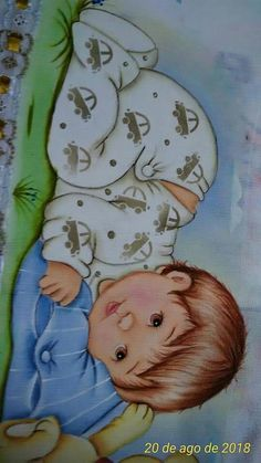 Embroidery baby boy products ideas for 2019 Baby Painting, Painting For Kids, Fabric Painting, Embroidery Hearts, Baby Clip Art, Baby Memories, Baby Christening, Baby Cartoon, Drawing For Kids