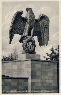 Third Reich  Massive sculpture in Nuremberg