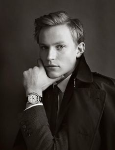 Burberry watch campaign 2012 featuring british art dealer Harry Scrymgeour.