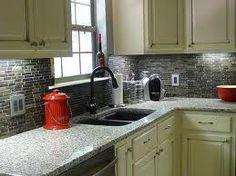 white and black backsplash tile