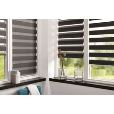 Custom Window Blinds – Blinds and Shades Blinds For Windows Living Rooms, House Blinds, Wood Blinds, Curtains With Blinds, Window Coverings, Window Treatments, Persiana Sheer Elegance, Service A Domicile, Zebra Blinds