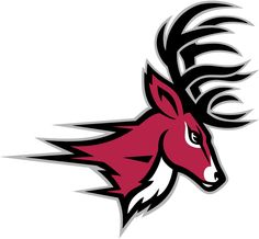 Fairfield Stags Partial Logo (2002) - A red deer's head