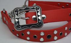 Martingale Red Dog Collar - Stainless, Biothane and Bling